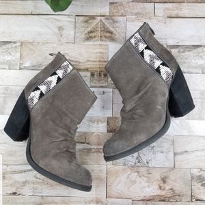 Sbicca Delaware Scrunched Suede Beaded Boot Bootie